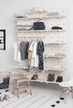 Great modular wardrobe by Foarm! #Foarm #shelves