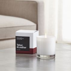 Tabac and Leather Scented Candle - Crate and Barrel