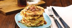 Bacon and Corn Griddle Cakes with Maple Syrup - Save-On-Foods