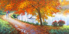 Love this oil painting from UGallery. Autumn Trail by Stanislav Sidorov