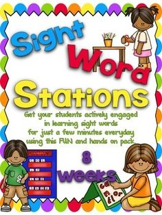 This is all about getting students actively engaged in learning sight words.