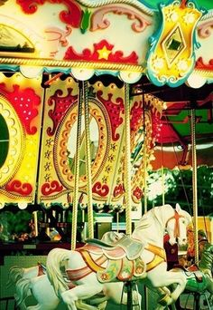 Carousels and painted horses