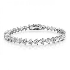 Bling Jewelry 925 Sterling Silver 4mm CZ Bridal Tennis Bracelet 7 Inch