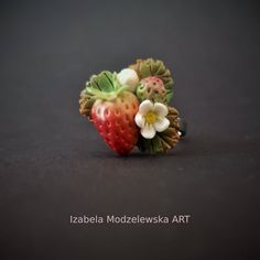 Facebook Sign Up, Wire Wrapping, Polymer Clay, Strawberry, Handmade Jewelry, Fruit, The Fruit, Strawberries, Diy Jewelry