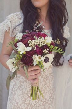 Lace and burgundy
