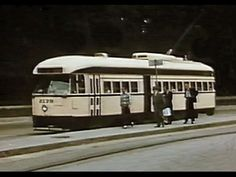 Streetcars in Mexico City in the 1950s