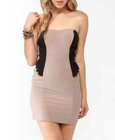Tiered Trimmed Tube Dress | FOREVER 21 - 2030187980