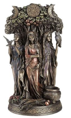 - Triple Goddess Mother Maiden Crone Statue #WU77085A4