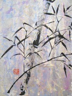 Ceci est une peinture chinoise contemporaine et permet de prendre conscience de la diversité ainsi que de l'éventail des possibilités relié à la peinture chinoise. Nous pouvons voir que le fond n'a pas été traité de la même manière et que les traits de la branche d'arbre sont plus définis et plus fins que dans la peinture chinoise traditionnelle.