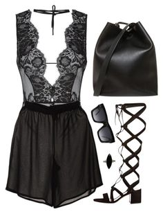 """""""Untitled #6542"""" by heynathalie ❤ liked on Polyvore featuring Agent Provocateur, Beaufille, Gianvito Rossi, 3.1 Phillip Lim, CÉLINE and ASOS"""