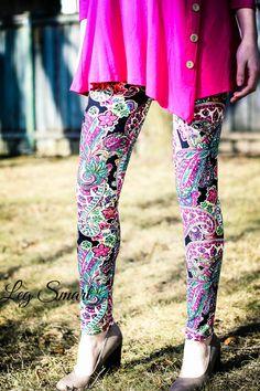 Pink Paisley Leggings www.legsmart.ca