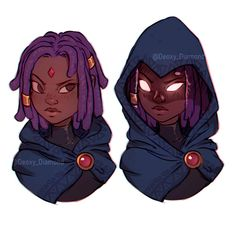 "Black Titans Raven ""Serena"" by Deoxy Diamond Jinx Teen Titans, Raven Teen Titans Go, Teen Titans Fanart, Teen Titans Starfire, Raven Teen Titans Cosplay, Character Design Teen, Fantasy Character Design, Character Art, Black Girl Cartoon"