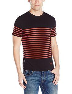 Armani Jeans Men's Yarned Dye Striped Jersey T-Shirt