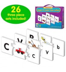 The Learning Journey: Match It! - Upper & Lower Case Letters - Self-Correcting Alphabet Matching Puzzle Letter Games, Name Activities, Four Letter Words, Puzzles For Kids, Learning Toys, 4 Year Olds, Lower Case Letters, Kids Education, Lowercase A