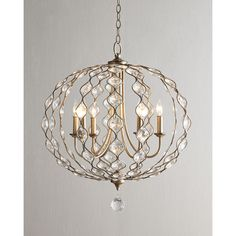 Horchow Marais Balloon Chandelier ($1,075) found on Polyvore