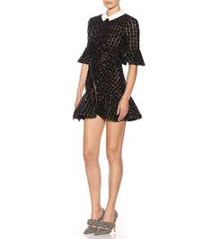 Black embellished mini-dress
