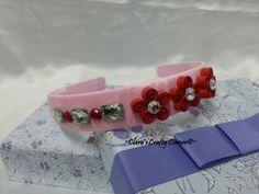 Red Flowery Headband