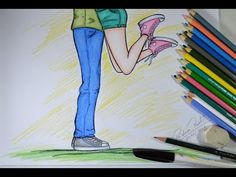 Desenhando CASAL Estilo Tumblr  #ArteECiaBrasil - YouTube Tumblr Drawings, Pencil Art Drawings, Cute Drawings, Nike Wallpaper, Drawing Quotes, Art Sketchbook, Cute Couples, Chibi, Illustration Art