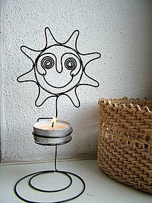 Svietidlá a sviečky - svietnik slnečný - 4639737_