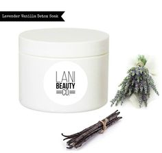 Lavender and Vanilla Detox Bath Soak  4 ounces by LaniBeautyCo