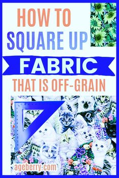 Learn how to square up fabric if you need to cut fabric straight. Squaring up a quilt top or quilt blocks usually means straightening fabric before cutting. Sounds simple, right? But in fact this is often a real problem that needs to be addressed. Learning how to cut fabric properly is a huge step toward becoming a better sewist. If you know how to find the grain of fabric and how to square up fabric that's problematic, your sewing projects will improve tenfold. Sewing For Beginners Diy, Sewing For Dummies, Sewing Basics, Sewing Tips, Sewing Hacks, Sewing Tutorials, Easy Sewing Patterns, Fabric Squares, Draped Fabric
