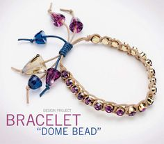 FREE PDF Tutorial for a Bracelet Project with Waxed Cord and Dome Beads. From Preciosa-Ornela