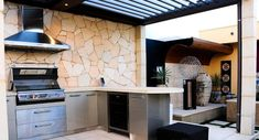 Basic Kitchen Area Concepts For Inside or Outside Kitchen areas – Outdoor Kitchen Designs Outdoor Fire, Outdoor Living, Outdoor Areas, Kitchen Builder, Outdoor Cooking Area, Outdoor Entertaining, Outdoor Kitchen Design, Outdoor Kitchens, Basic Kitchen