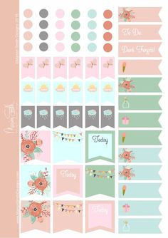 Rainy Days Planner Stickers A5 | Marion Smith Designs