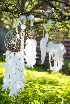 Wedding dream catchers White boho dream by MysteriousForests