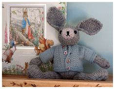 http://www.ravelry.com/patterns/library/well--dressed-bunny I adore this bunny:)