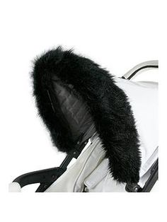 Pink Pram Fur Hood Trim Attachment for Pushchair Compatible with Kiddicare.com