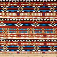 Stretch Ponte de Roma  Knit Aztec Print Rust from @fabricdotcom  This floral printed ponte de roma double knit fabric is perfect for creating skirts, dresses, structured knit apparel, light jackets, heavier tops and more! It has a soft hand, full bodied drape and 50% stretch across the grain.