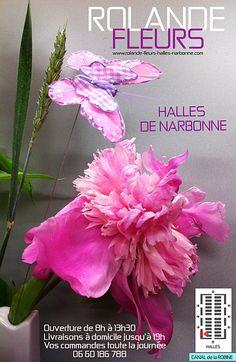 Rolande Fleurs fleuriste aux halles de Narbonne, un étal de fleurs champêtre et contemporain dans un marché couvert traditionnel en Languedoc Roussillon sud France près de Montpellier, Perpignan, Béziers, Toulouse. https://www.facebook.com/rolandefleurs.hallesnarbonne http://www.rolande-fleurs-halles-narbonne.com