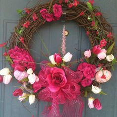 Spring Wreath I made for my front door