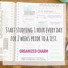 Tip Sunday: Start 2 Weeks Ahead! Organized Charm: Study Tip Sunday: Start 2 Weeks Ahead!Organized Charm: Study Tip Sunday: Start 2 Weeks Ahead! College Success, College Life, College Hacks, College Goals, Notes Taking, School Study Tips, School Tips, Law School, High School