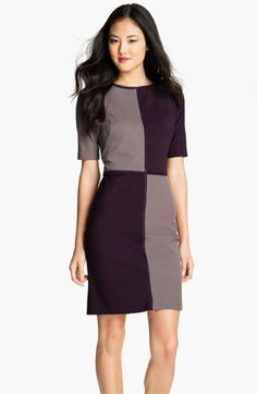 Suzi Chin for Maggy Boutique Colorblock Sheath Dress | Nordstrom - I really like the elbow-length sleeve!