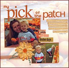 Scrapbook page - pumpkin patch title - My Pick of the Patch - Scrapbook.com
