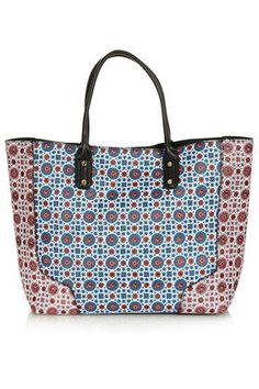 Oriental queen tote bag made from safiano