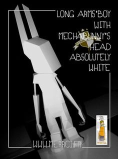 long arms' boy with MB's head - merrci makes papertoys