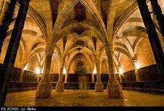 Chapter room, Cistercian monastery of Santa María la Real Fitero, Navarre, Spain