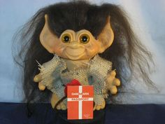 "6"" 1965 BLACK HAIR VTG DAM TAILED TROLL ORIG EYES & NEW OUTFIT  going on ebay for $699.99!"