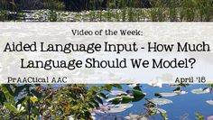 Video of the Week: Aided Language Input - How Much Language Should We Model?