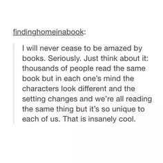 This is why I love books more than movies. We get to make it our own and aren't subjected to whatever someone else sees it as.