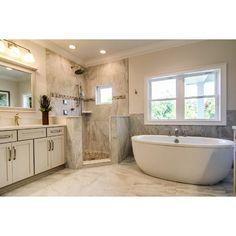Emser Tile Eurasia 12 x 24 Porcelain Field Tile Finish: Bianco Beautiful Small Bathrooms, Dream Bathrooms, Master Bathrooms, Luxury Bathrooms, Modern Bathrooms, Bathroom Layout, Bathroom Interior, Bathroom Ideas, Bathroom Organization