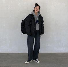 Korean Outfits, Mode Outfits, Fashion Outfits, Grunge Outfits, Girl Outfits, Ulzzang Fashion, Asian Fashion, Aesthetic Fashion, Aesthetic Clothes