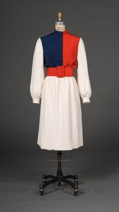 1970, America - Dress by Norman Norell for I. Magnin & Co.
