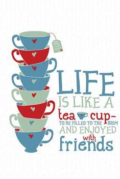 'Life Is Like A Tea Cup' - Tea Bag Tag personalisation option