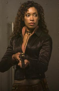 Zoe Washburne played by Gina Torres on the TV show Firefly and in the movie Serenity. I would NOT want to be on this woman's bad side. Female Movie Characters, Female Heroines, Gina Torres, Firefly Tv Series, Firefly Serenity, Joss Whedon, Battlestar Galactica, Character Inspiration, Sci Fi