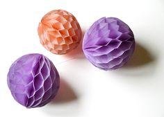 Wabenbälle DIY Hochzeit Honeycombs selbermachen 1