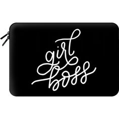 GIRL BOSS - Macbook Sleeve ($60) ❤ liked on Polyvore featuring accessories, tech accessories and macbook sleeve